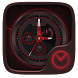 Redandblack GO Clock Theme by Ltd. talent