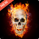Fire Skull 3D Live Wallpaper