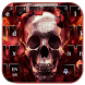 Burning Skull Keyboard Theme by Echo Keyboard Theme