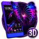 3D Neon Butterfly Galaxy Theme by Elegant Theme