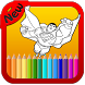 Super Hero Coloring Pages by ZINA MOBILE APPS