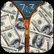 Money Dollar Zipper LockScreen by N-APPS