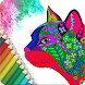 Cat Pixel Art - Coloring book for adults