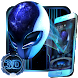 3D Neon Alien Galaxy Theme