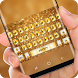 Golden Luxury Keyboard Theme Glittering Gold by Sexy Theme Design for Smart Phone