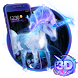 3D Dreamy Unicorn Galaxy Theme by 3dthemecoollauncher
