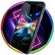 Neon animals wallpaper by Live Wallpapers 3D Ultra Magic Touch Clocks HD