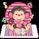 Cute Pink Monkey Theme