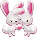Love Rabbit Theme - Kawaii Cute Bunny Comic Theme by Best Android Themes Workshop