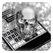 Silver Skull Keyboard by Cool Theme Studio