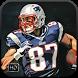 Rob Gronkowski Wallpaper Art NFL by AmericanFootball Wall Studio