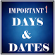 Important Days and Dates by SPRATHOD