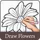 How To Draw Flower Design by Smart Mob Solution