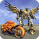 Flying Bike Robot Transforming: Eagle Robot Game
