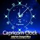 12星座☆山羊座アナログ時計ウィジェット