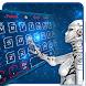 blue robot ai keyboard future light by Keyboard Theme Factory