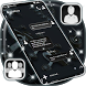 Black New SMS Theme by Lockers and SMS Themes