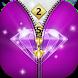 Diamond Zipper Lock Screen - Zip Unlocker by Borkos Apps