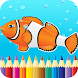 Kids Fish Coloring Book Pages by Coloring Fun Games For Adults and Kids