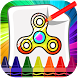 Fidget Spinner Coloring by ralfekiyo