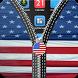 USA Flag Zipper Screen Lock by Titan Tech Developers