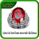 cincin berlian merah delima
