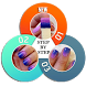 Nail art designs step by step by 3 Steps Developer