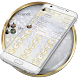 Dialer Glitter Gold Silv Theme by Luklek