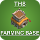 Town Hall 8 Farming Base by Hexa Developers