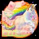 rainbow unicorn keyboard colorful by Keyboard Theme Factory