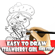 Easy To Draw Strawberry Girl Kids by Maju Jaya