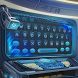 Blue alien technology keyboard by Brandon Buchner