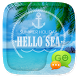 GO SMS PRO HELLO SEA THEME by ZT.art