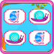 Matching Game-Twirl Snail Kids by Quicksailor