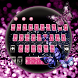Neon Glitter Butterfly Diamond Keyboard by New Theme World