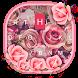 Pink Rose Keyboard Theme by Kika Theme Studio