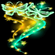 Butterfly Neon Twinkle LWP by CG-Live-Wallpapers