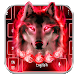 Flaming Wicked Wolf Keyboard Theme