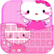 Pink Kitty Keyboard Theme by Fancy Themes Design