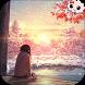 Anime Girl Winter Sunset LWP by Kawaii co
