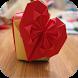 origami heart tutorials by Harumando