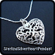 Sterling Silver Heart Pendant by Carrie Goodeill