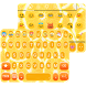 Orange Keyboard Theme - Emoji Keyboard Wallpaper by Keyboard themes