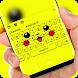 Yellow Cute Pikachu Keyboard by Jubee Theme Studio