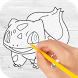 How to draw pokemon & Pokemon by GNSN Soft. App