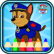 coloring Paww Patrol Fans by coloring cartoons for kids