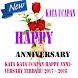 Kata kata Ucapan Happy Anniversary Terbaru 2017