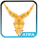 Gold Necklace Design by atifadigital
