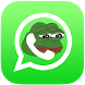 Pepe the Frog, stickers 4 chat by Estado da Arte