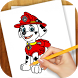 Learn to Draw Paw Patrol by VLK Games